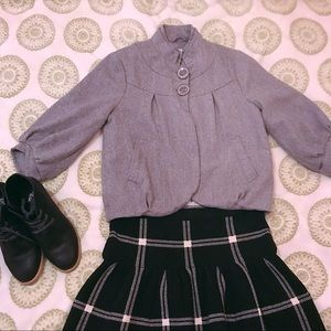 Forever 21 Gray Wool Cropped Coat